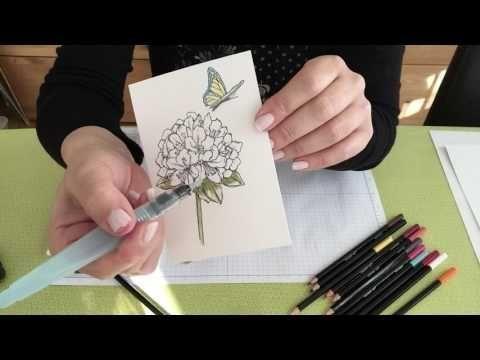 Malen Mit Den Neuen Aquarellstiften Von Stampin Up Youtube