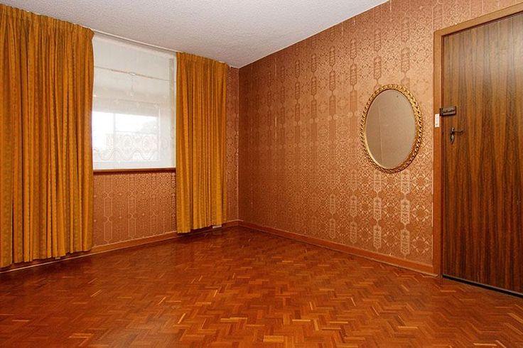 60's home, mid century modern, parquetry floors