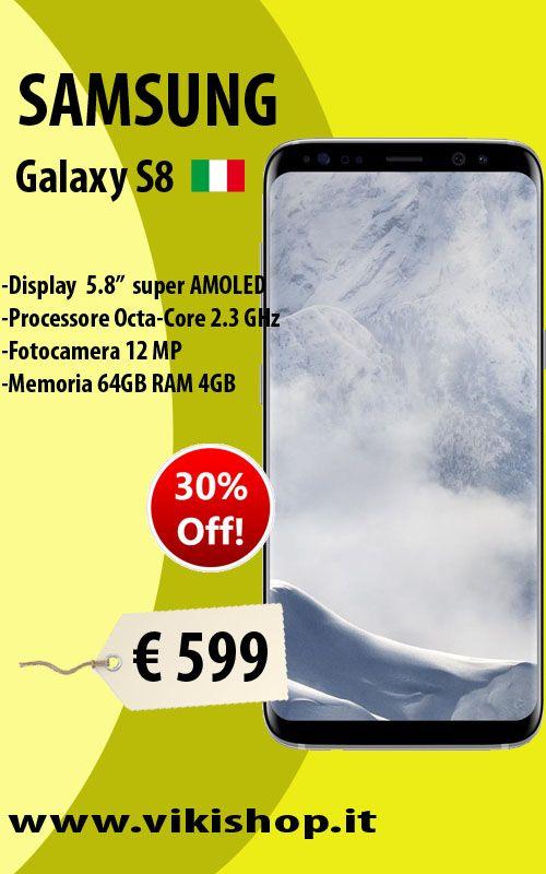 SAMSUNG GALAXY S8 ARGENTO ITALIA 64GB in Promozione! Acquista Ora: https://goo.gl/rwXvJ8 #vikishop #samsungs8silver #spedizionegratis