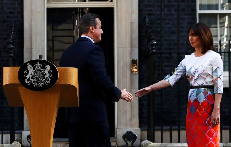 A hand to hold, Cameron reaches out to his loving wife Sam after nightmare 24-hours