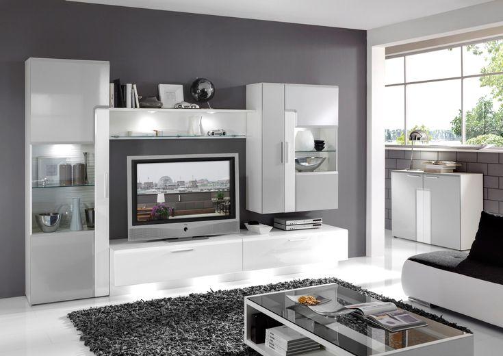 wohnzimmer ideen weiß grau #einrichtungsstil