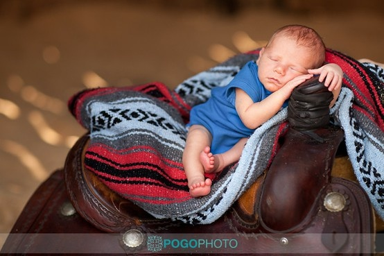 How cute!! I need to find friend or family with a saddle for a pic of my Wyatt like this!!!