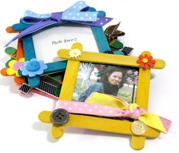 Grace in Creative Life: Popsicle Stick Frames