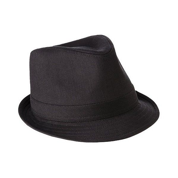 Men's Fedora Black/, Size: Medium/ ($17) ❤ liked on Polyvore featuring men's fashion, men's accessories, men's hats, black, mens fedora hats, mens fedora, mens hats and mens hats fedora