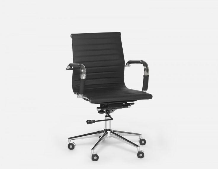 SPENCER - Chaise de bureau - Noir