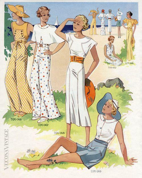 1930S BEACH & LOUNGINGPYJAMAS