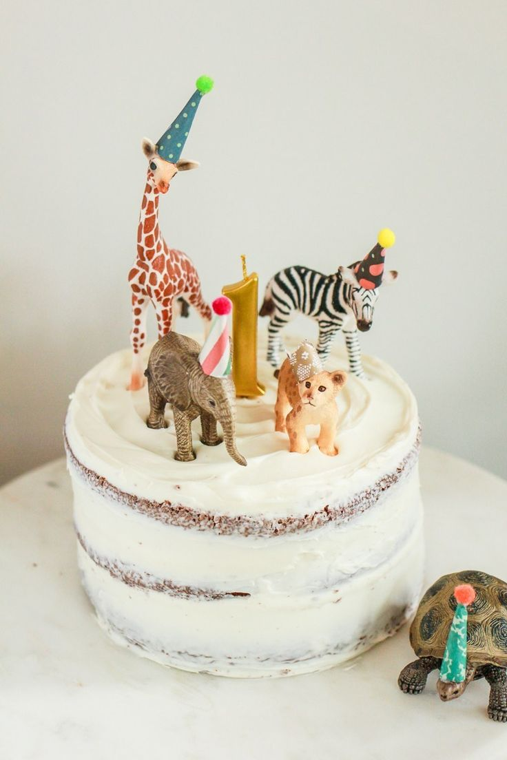 Erste Geburtstagsparty DIY Cake Topper: Party Animals.   – DIY Ideas