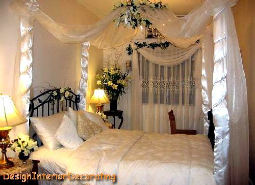 How to designing and decorating the bridal room pamcake for Asian wedding bed decoration ideas