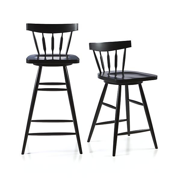 Fresh Bar Stools Black Swivel