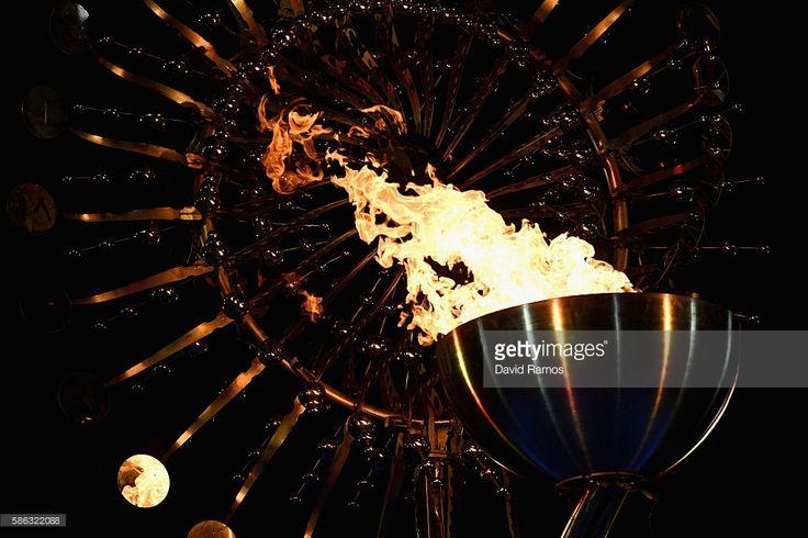 The Lighting of the Olympic Cauldron   Olympics, Summer ...