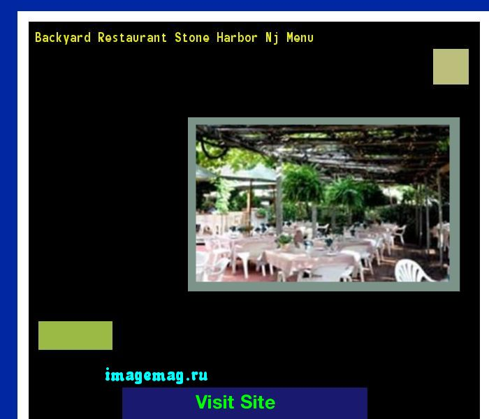 Backyard Restaurant Stone Harbor Nj Menu 100120 - The Best Image Search
