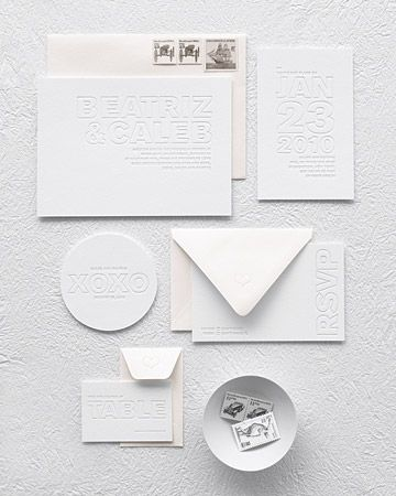 This cream-on-white letterpress will fit any palette