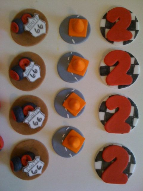 Cars cupcake toppers / cars birthday by CrumbyArt on Etsy, $24.00