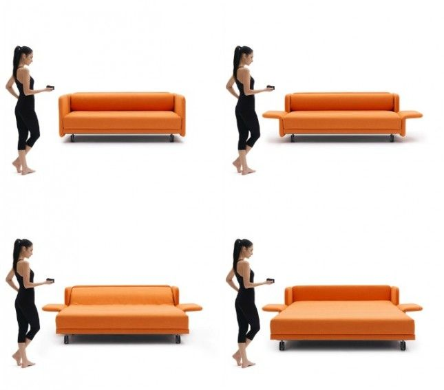 WOW Sofa (price upon request): For the epically lazy, turn the sofa into a bed with the push of a button. Bonus points to this couch for being available in so many bright colors.