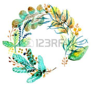 水彩画の花のフレームの結婚式の招待状のデザインまたは日付の図を保存 photo