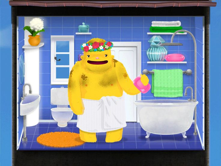 Bo getting ready for the bath in Toca House by Toca Boca. http://itunes.apple.com/us/app/toca-house/id495680460?mt=8 #apps #kids #children #ipad #iphone #tocaboca #tocahouse