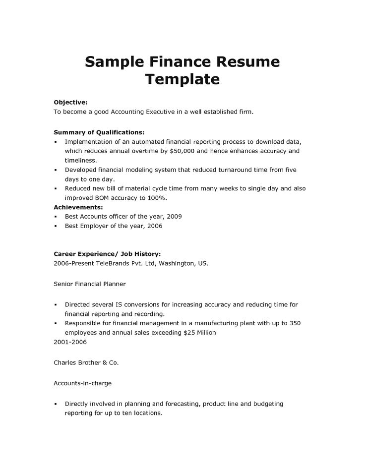 Download high quality professional resume template samples