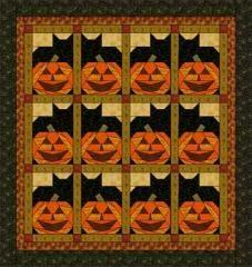 halloween theme quilt blocks   Pumpkin Cats   Quilt Patterns & Blocks   Angie's Bits 'n Pieces