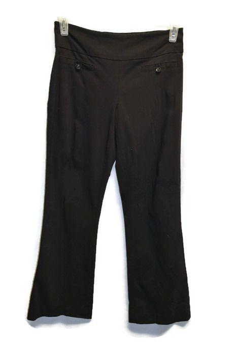 Womens Reitmans Size 10P 10 Petite Black Dress Pants 4 Faux Pockets Business  #Reitmans #DressPants