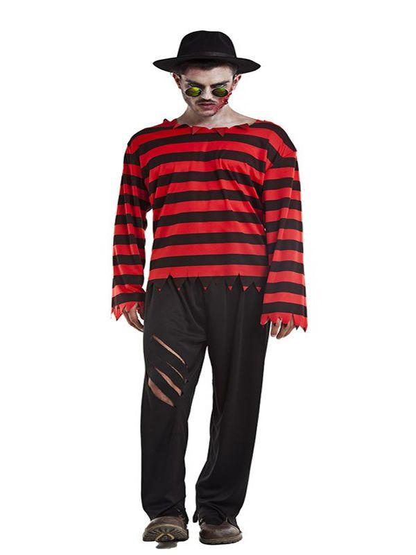 El disfraz de freddy krueger hombre, incluye Camisa y pantalones en DisfracesMimo.com