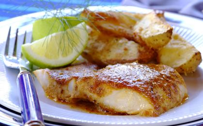 Dad's Fish and Chips: fish fillets rubbed with paprika and lemon juice make a fabulous light, healthy family dinner