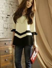 Fashion Style Lotus Leaf Sleeve Top  $24.39