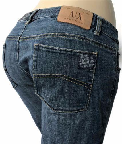 aa94fa69 Armani-Exchange-AX-Womens-Jeans-Size-30-x-33-Straight-Distressed ...