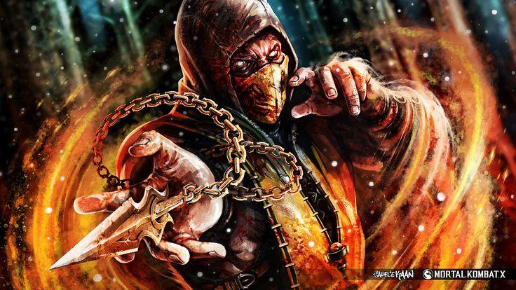 Fatality de Scorpion em Mortal Kombat X (Sangrentooo)