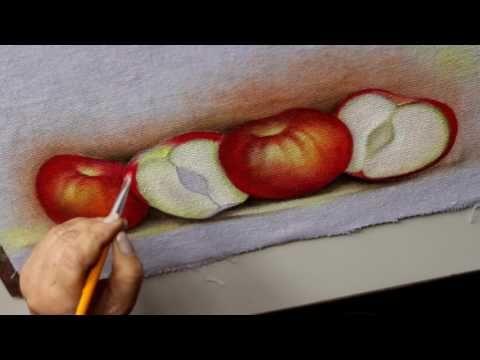 Pintura em tecido - Maça cortada