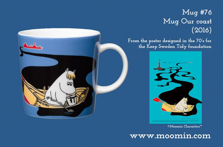 76 Moomin mug Keep Sweden Tidy Our coast