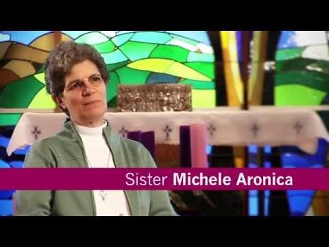 """Meet Sister Michele Aronica, a Sister of Mercy for 35 years.  She treasures her life as a Sister of Mercy: """"I've been blessed with opportunities."""" The mission of the sisters and the vision of their founder, Catherine McAuley, motivate her to be a conveyor of mercy not just to her work as a professor, but to all situations and people she encounters. #ThisIsMercy #SistersofMercy #Catholic #Nuns"""