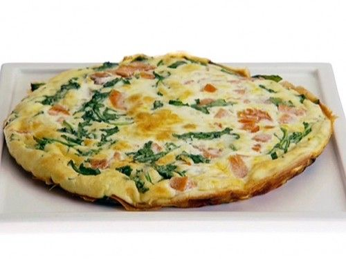 Spinach, Ham and Egg Whites Frittata Recipe~2 pts  Looking for a low calorie WW Breakfast recipe that still tastes great? Well this delicious Egg Whites, Ham and Spinach Frittata will definitely fit the bill. Made with low calorie ingredients, it maintains a healthy profile, but still packs in some amazing flavors.