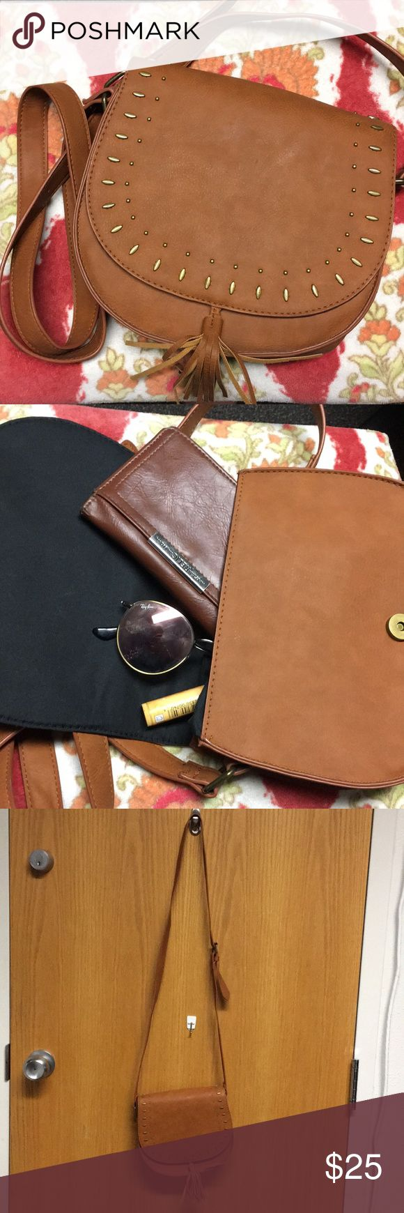 Boho Faux Leather Purse Perfect Condition. Hollister Bags Crossbody Bags