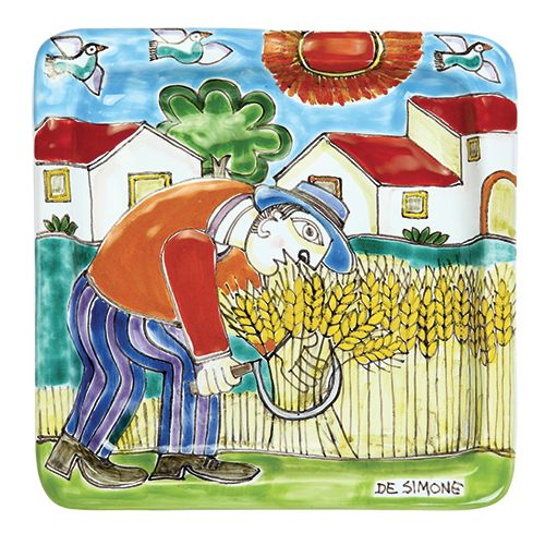 Ceramiche De Simone - Square Plates DS cm 20x20 Decoration12