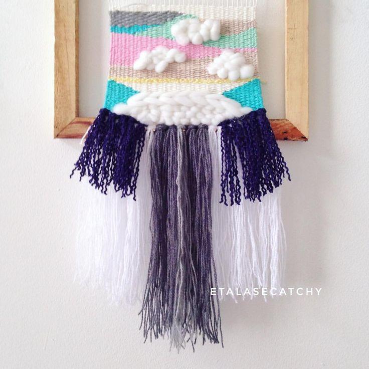 "23 Likes, 1 Comments - weaving • woven • macrame (@etalasecatchy) on Instagram: ""Cloud ☁️☁️☁️ Weaving only yaa tidak termasuk weaving loom nya hehe READY STOCK 1 PCS PRICE & ORDER…"""