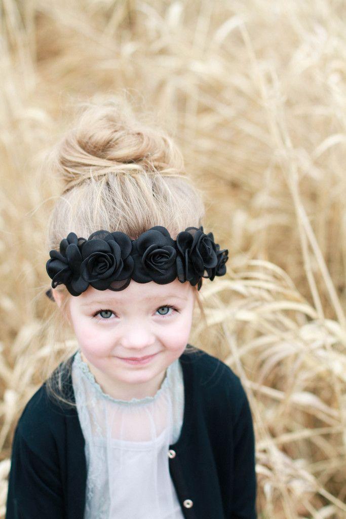 Black Dava Crown – Arrow & Lace Designs Floral Crown Headband