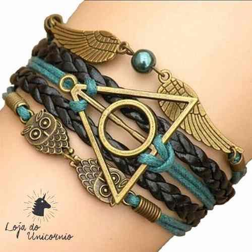 Bracelete Harry Potter E As Relíquias Da Morte Pomo De Ouro - R$ 19,90