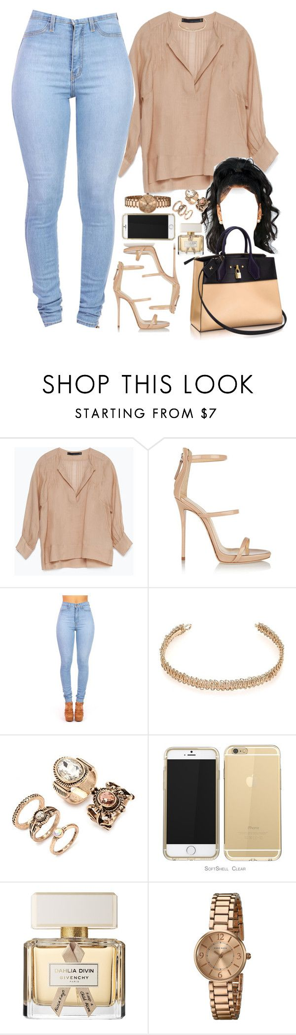 """24 December, 2015"" by jamilah-rochon ❤ liked on Polyvore featuring Zara, Giuseppe Zanotti, Maison Margiela, Louis Vuitton, Forever 21, Givenchy and Anne Klein"