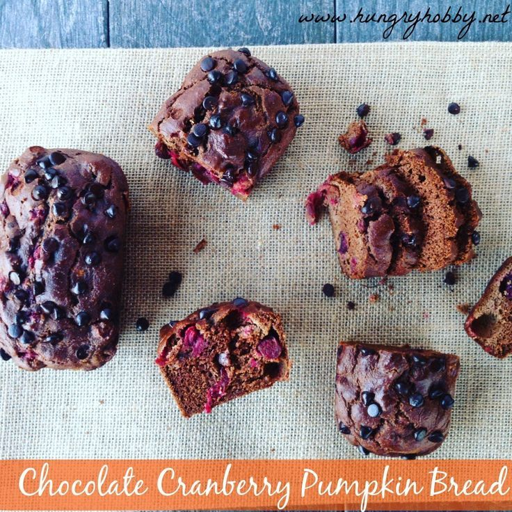 Cooking Tips | Here is Mini Chocolate Cranberry Pumpkin Loaves that you can cook for your healthy Paleo thanksgiving dinner menu