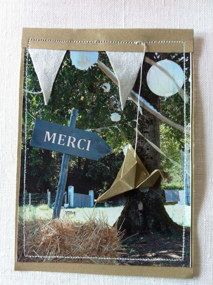 carte de remerciement mariage bapteme fanions origami grue cartes par plume de fee - Carte De Remerciement Mariage Avec Photo