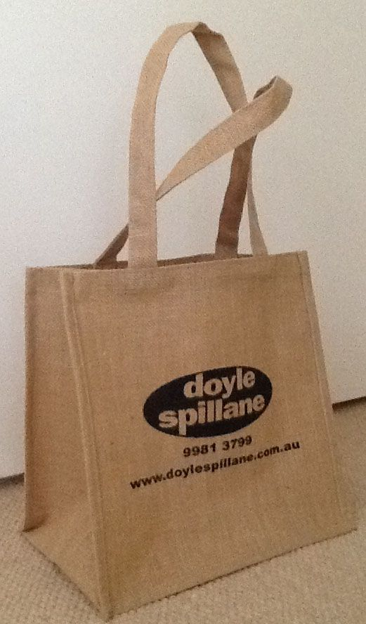 Thrive Promotional supplied.    Let there by Jute !  Smart branded jute shopping bag.