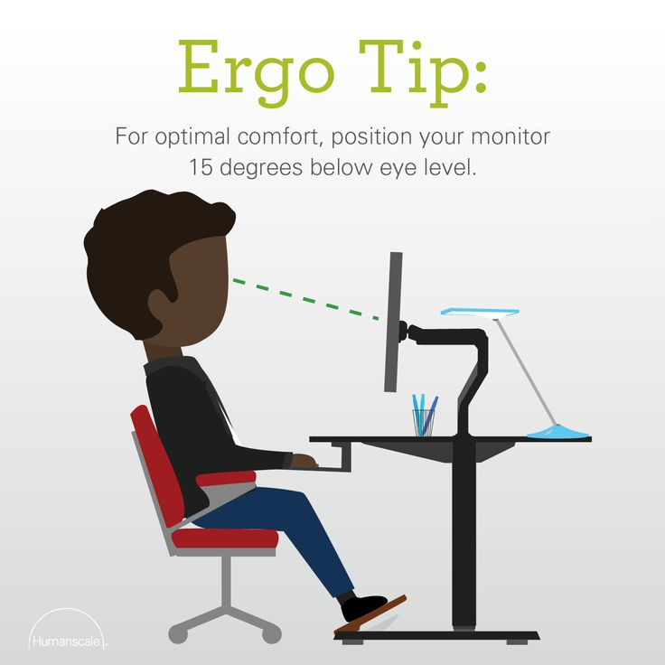 Humanscale Ergonomic Tip For Optimal Comfort Position
