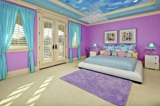 In honour of the royal baby children s rooms fit for a prince or princess this chic girl 39 s - Modern purple bedroom colors ...