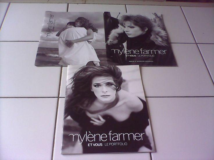 RARE - 3 Portfolios Mylène Farmer et vous photos Rosensthiehl et Parisotto Vay