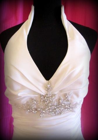 Wedding Dress Halter Top - some but elegant detail
