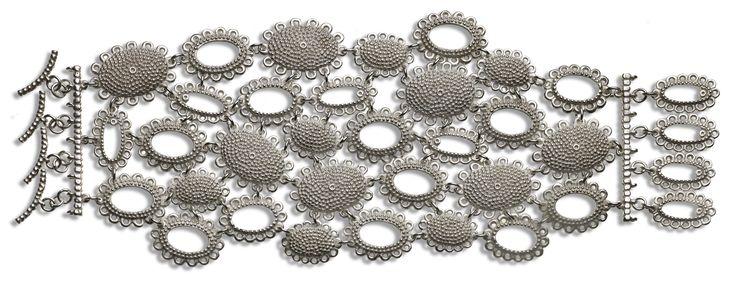 Catherine Hills - Baroque silver Bracelet
