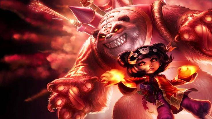 Lunar Revel 2013 (Panda Annie) League Of Legends Login Screen With Music