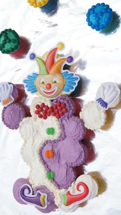 Eliza's 3rd Birthday. Clown cake