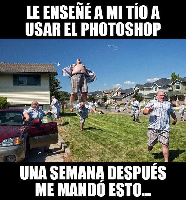 Cuando Le Ensenas A Un Adulto A Usar Photoshop Funny Memes Stupid Memes Memes