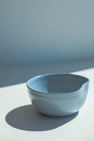 ORGANIC SMALL SALAD BOWL - STEEL BLUE